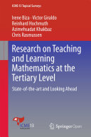 Research on Teaching and Learning Mathematics at the Tertiary Level