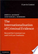 The Internationalisation of Criminal Evidence Book