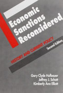 Economic Sanctions Reconsidered  History and current policy