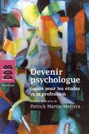 Pdf Devenir psychologue Telecharger