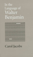 In the Language of Walter Benjamin
