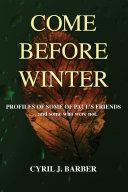 Come Before Winter Pdf/ePub eBook
