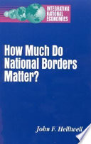 How Much Do National Borders Matter