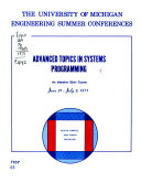 Advanced Topics in Systems Programming Book