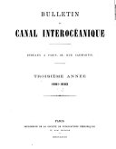 Bulletin du canal interocéanique