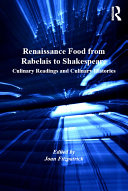 Pdf Renaissance Food from Rabelais to Shakespeare Telecharger