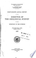 Annual Report Of The Director Of The United States Geological Survey To The Secretary Of The Interior