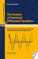 The Analysis of Fractional Differential Equations