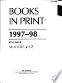 Books in Print 1997-98  , Volume 4
