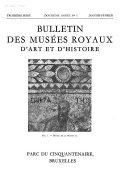 Pdf Bulletin Des Musées Royaux D'art Et D'histoire