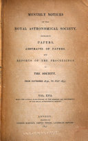 Pdf Monthly Notices of the Royal Astronomical Society