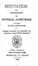 Réfutation des mémoires du Général Dumouriez