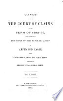 Cases Decided in the Court of Claims of the United States at the     with the Rules of Practice and the Acts of Congress Relating to the Court