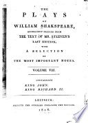 """The"" Plays of William Shakespeare"