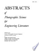 Abstracts of Photographic Science & Engineering Literature