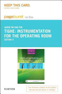 Instrumentation for the Operating Room Pageburst E book on Kno