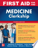 First Aid for the Medicine Clerkship  Fourth Edition