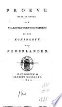 Proeve Over De Keuze Van Volksvertegenwoordigers In Het Koningrijk Der Nederlanden