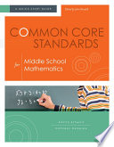 Common Core Standards For Middle School Mathematics Book PDF