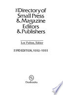 Directory of Small Magazine - Press Editors and Publishers