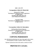Bulletin of the Institute of Combinatorics and Its Applications