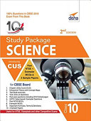 10 in One Study Package for CBSE Science Class 10 with 3 Sample Papers 2nd Edition Book