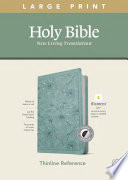 NLT Large Print Thinline Reference Bible, Filament Enabled Edition (Red Letter, Leatherlike, Floral/Teal, Indexed)