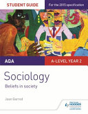 AQA A Level Sociology Student Guide 4  Beliefs in Society