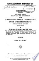 Clinical Laboratory Improvement Act Book