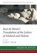 Pdf Jean de Meun's Translation of the Letters of Abelard and Heloise Telecharger