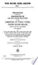 Water Pollution Control Legislation Book