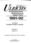 Ulrich S International Periodicals Directory 1991 92