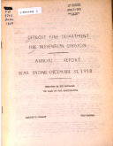 Annual Report   Detroit Fire Marshal Division Book