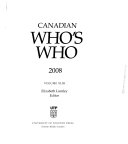 Canadian Who s Who 2008
