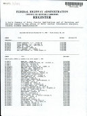 Federal Highway Administration Office of Motor Carriers Register