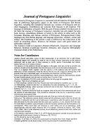 Journal of Portuguese Linguistics