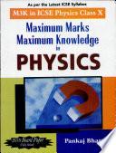 Maximum Marks Maximum Knowledge in Physics