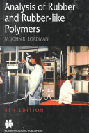 Analysis of Rubber and Rubber-like Polymers ebook