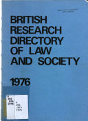 British Research Directory of Law and Society