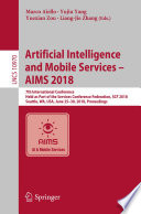 Artificial Intelligence and Mobile Services     AIMS 2018