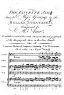 Wake thou son of dulness. The Favorite Air sung by Miss Young in the Belle's Stratagem. To which is added the ... Minuet perform'd at the Masquerade Scene, in the above Comedy