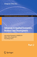 Advances in Applied Economics  Business and Development