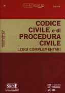 Codice civile e di procedura civile. Leggi complementari. Ediz. minor