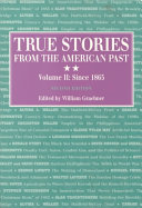 True Stories from the American Past Book