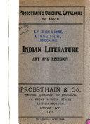 Indian Literature  Art and Religion