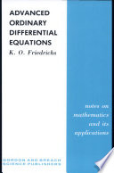 Advanced Ordinary Differential Equations Book