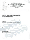 How to limit traffic congestion in your community