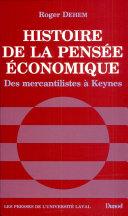 Pdf Histoire de la pensée économique Telecharger
