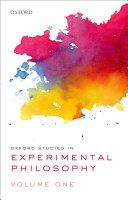 Oxford Studies in Experimental Philosophy [Pdf/ePub] eBook