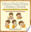 I See  I Feel  I Hear  I Touch  I Taste  A Book About My 5 Senses for Kids   Baby   Toddler Sense   Sensation Books